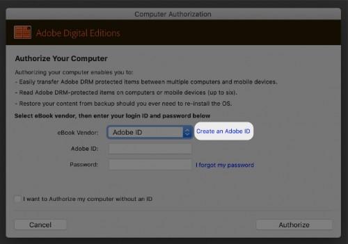 Create an Adobe ID - ADE