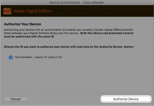 Authorize device - ADE